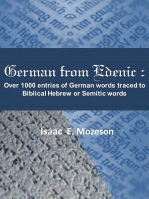 German from Edenics bk cover